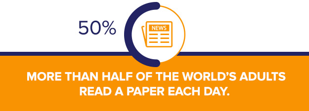 Half The world reads a paper
