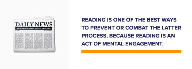Reading is good for mental engagment