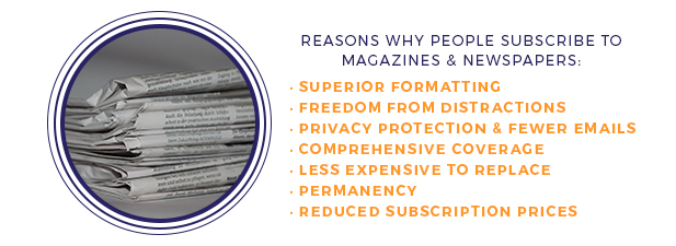 reasons why people read print media